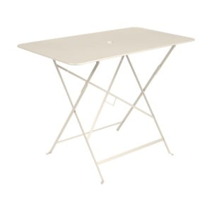 Svetlobéžový záhradný stolík Fermob Bistro, 97×57 cm