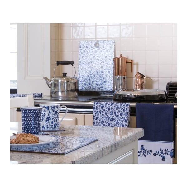 Sada 4 prestieraní Kitchen Craft Blue Flower, 21 x 29 cm