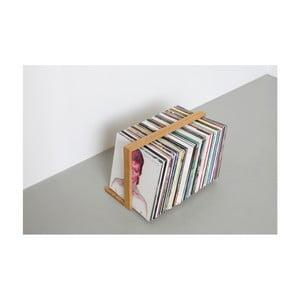 Stojan na gramofónové dosky z dubového dreva das kleine b Vinyl, 52×35cm