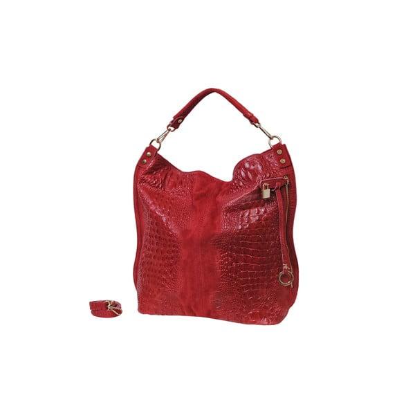 Červená kožená kabelka Andrea Cardone Edvige