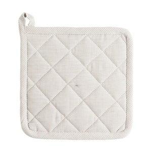 Biela bavlnená chňapka Ego Dekor Bombay, 20 × 20 cm