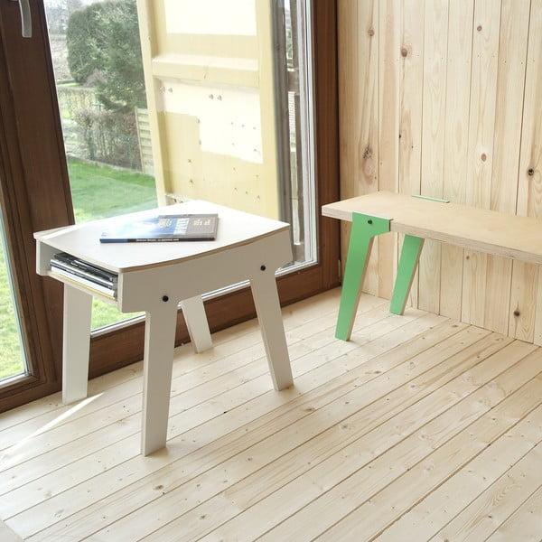 Čierna stolička/stolík s úložným priestorom rform Pi