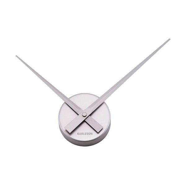 Nástenné hodiny v striebornej farbe Karlsson Mini