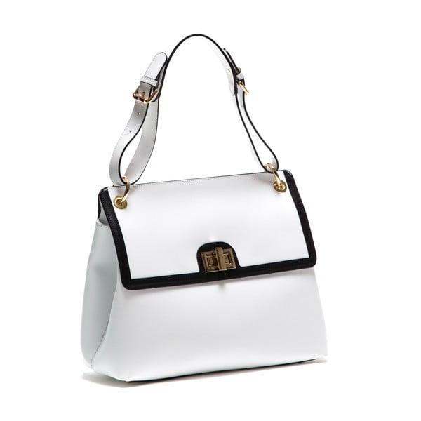 Biela kožená kabelka Anna Luchini