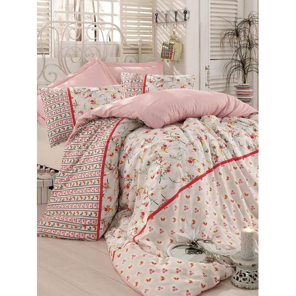 Béžové obliečky s plachtou Love Colors Emma, 200 x 220 cm