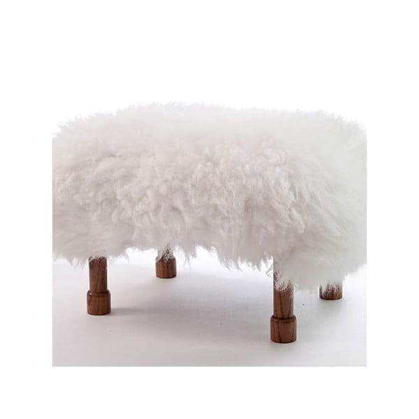 Stolička z ovčej kože Delyth Ivory