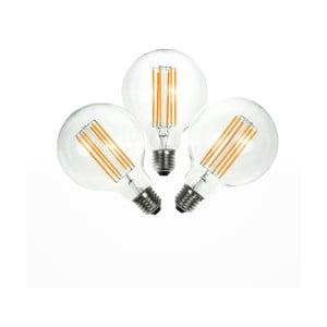 Sada 3 LED žiaroviek Bulb Attack GLOBE Linear, 6,5 W