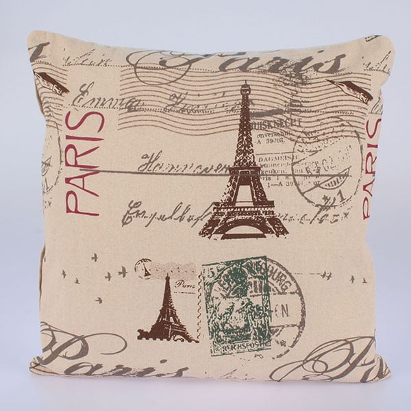 Obliečka na vankúš In Beige Paris, 45x45 cm