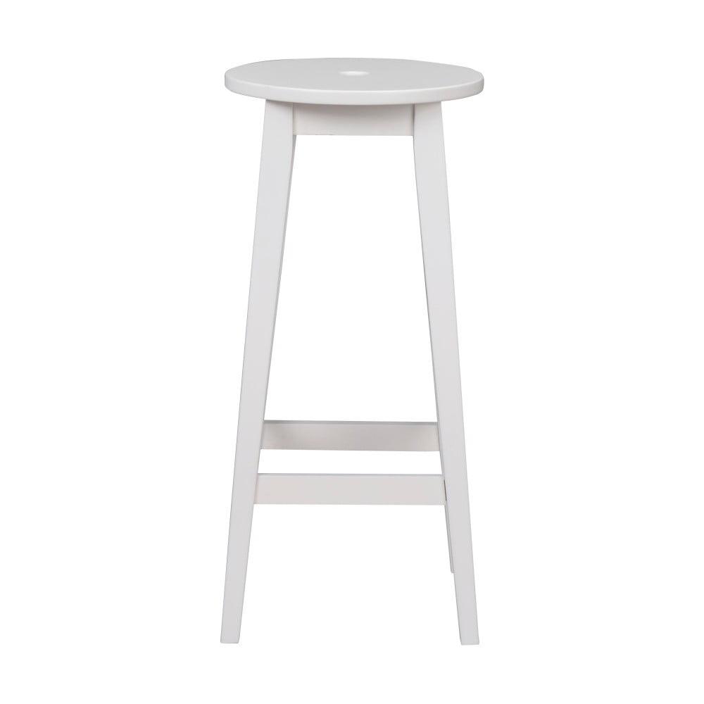 Biela dubová stolička Folke Gorgona, výška 75 cm