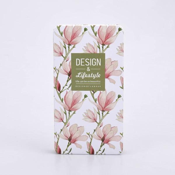 Plechový zápisník Garden, ružový
