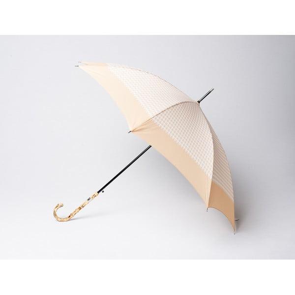 Dáždnik Houndstooth, béžový