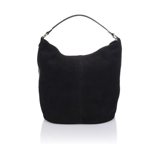 Kožená kabelka Krole Kim, čierna