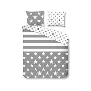 Sivé obliečky Stars and Stripes 200x200cm