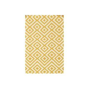 Vlnený koberec Luisa Yellow, 180x120 cm