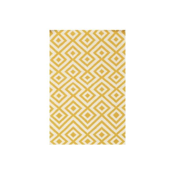 Vlnený koberec Luisa Yellow, 200x140 cm