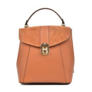 Koňakovohnedý kožený batoh Isabella Rhea Milesso
