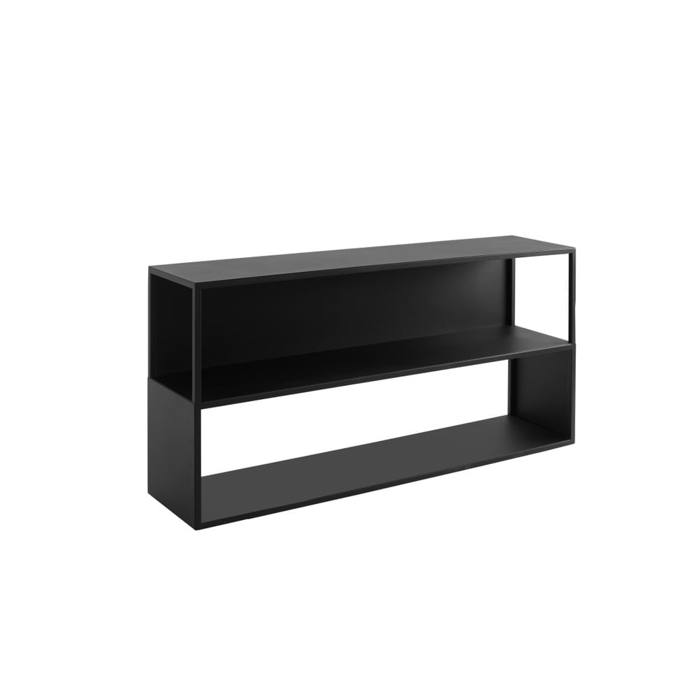 Čierna knižnica Custom Form Hyller Side, výška 75 cm