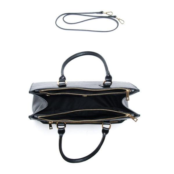Kožená kabelka Renata Corsi 444 Nero
