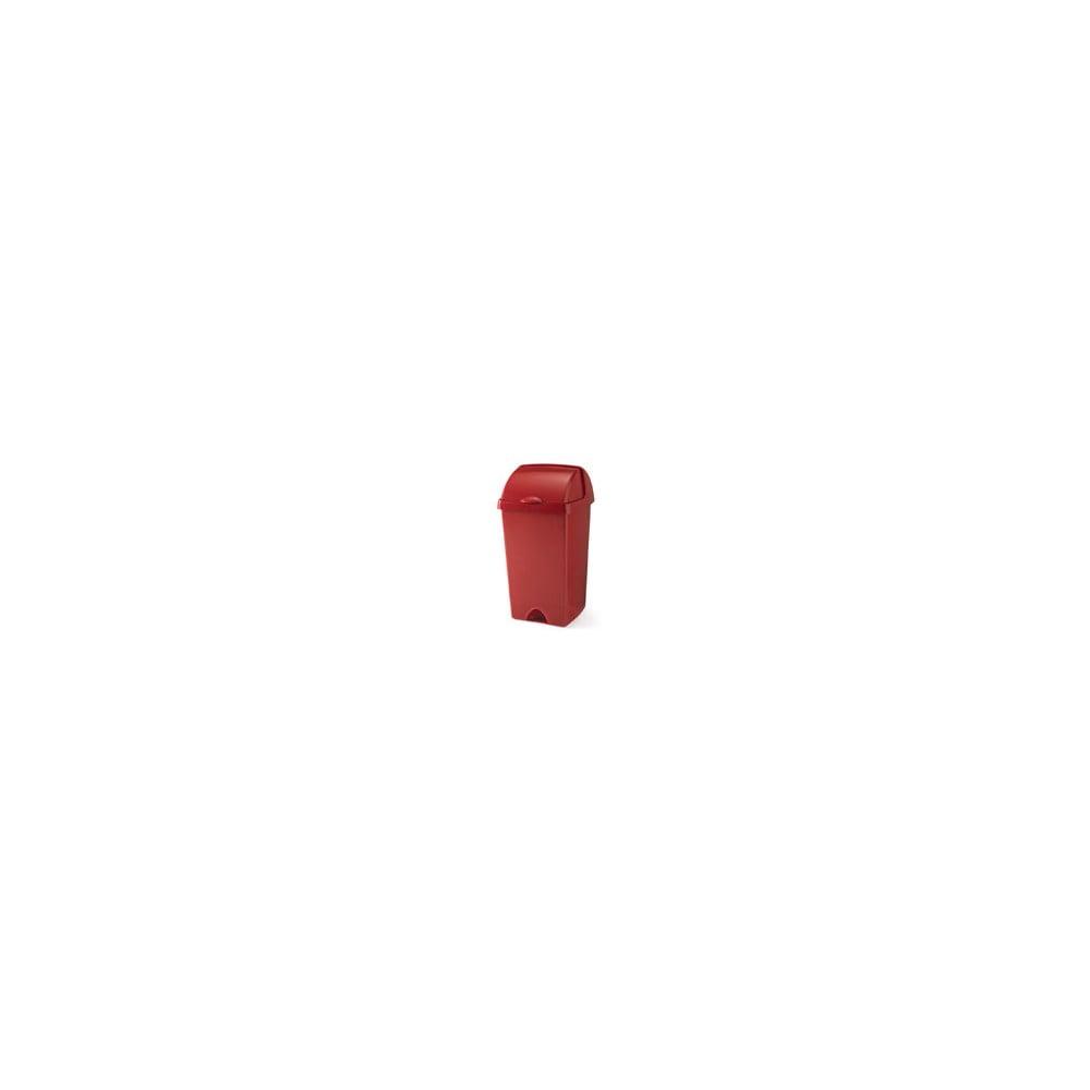 Červený odpadkový kôš so zasúvacím vrchnákom Addis, 38 x 34 x 68 cm