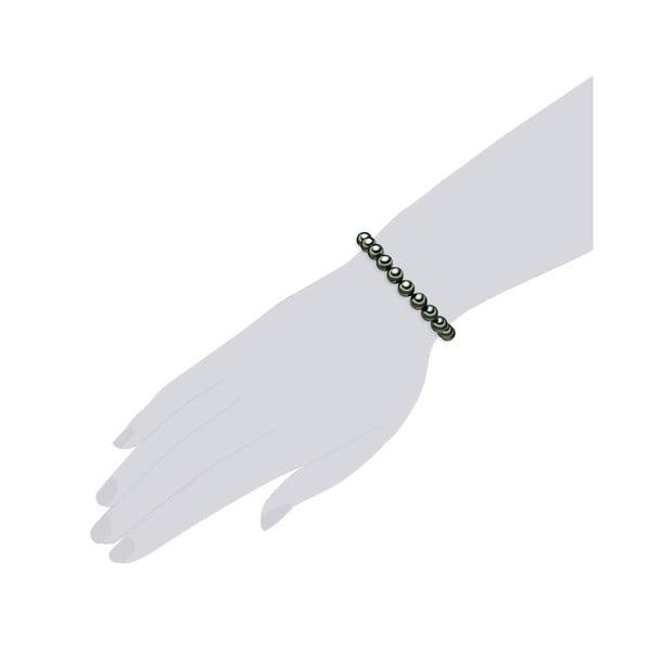 Perlový náramok Muschel, zelené perly 8 mm, dĺžka 17 cm