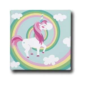 Obraz Mr. Little Fox Unicorn on the Rainbow
