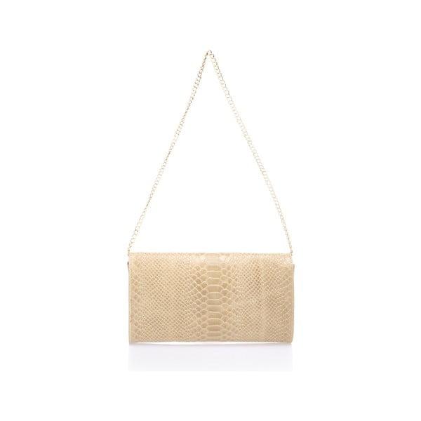 Sivo-béžová kožená listová kabelka Giorgio Costa Pythio