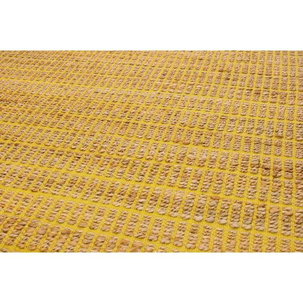 Jutový koberec Ranger Mustard, 100x150 cm