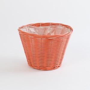 Okrúhly ratanový kvetináč Baskie Orange