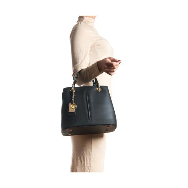 Kožená kabelka Gemma, čierna