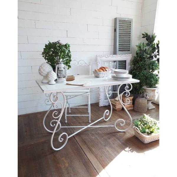 Kovový stôl Old White