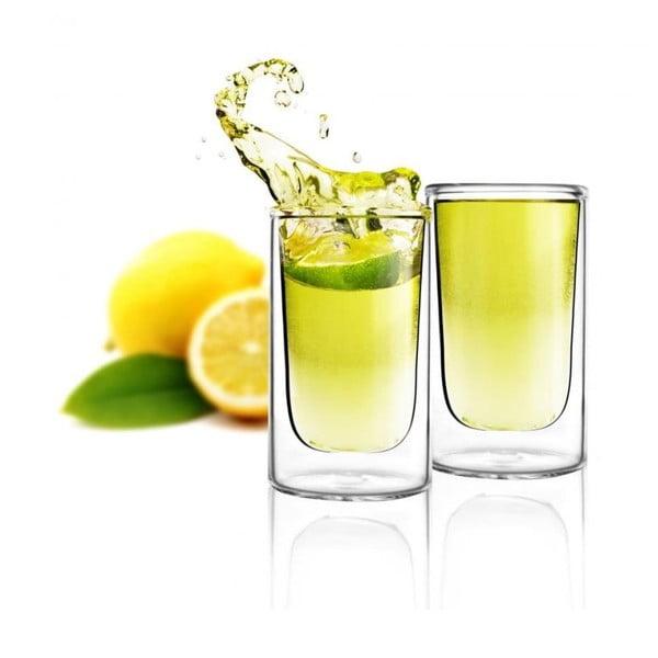 Sada 2 dvojitých pohárov Vialli Design Amo Shot, 50 ml