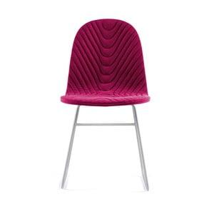 Ružová stolička s kovovými nohami IKER Mannequin V Wave
