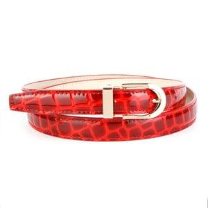Dámsky kožený opasok 434R Red, 80 cm