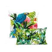 Sada bavlnených 2 obliečok na vankúš Happy Friday Blue Macaw