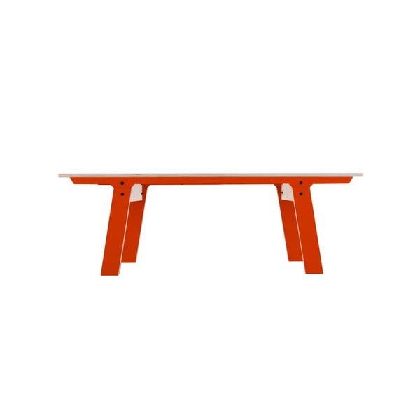 Oranžová lavica na sedenie rform Slim 01, dĺžka 133 cm