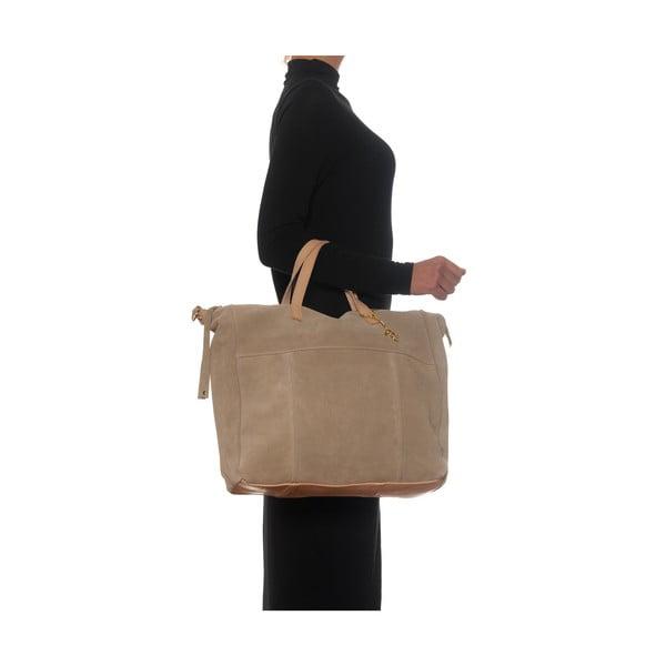 Kožená kabelka Renata Corsi 8026, krémová