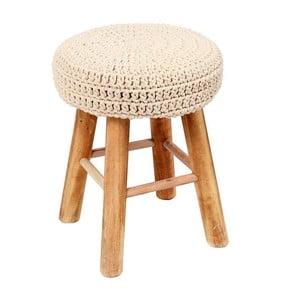 Stolička s pleteným sedadlom In Cream
