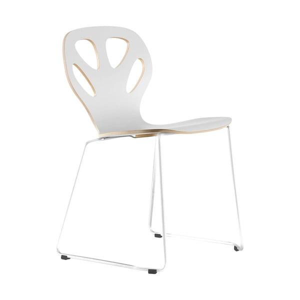 Stolička Maple, biela