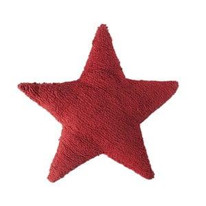 Červený bavlnený ručne vyrobený vankúš Lorena Canals Star, 54 x 54 cm