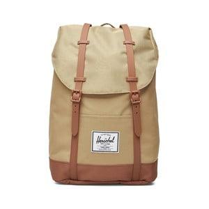 Svetlohnedý batoh s popruhmi zo syntetickej kože Herschel Retreat