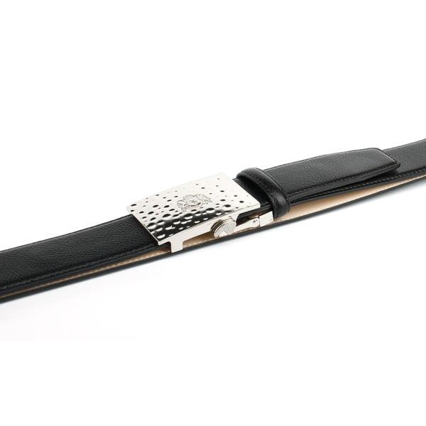 Pánsky kožený opasok 12T10S Black, 100 cm