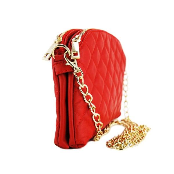 Kožená listová kabelka Gialina Rosso