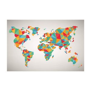 Obraz Homemania Maps World Puzzle, 70×100 cm