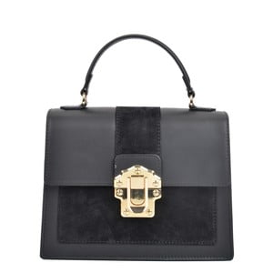 Čierna kožená kabelka Isabella Rhea Angelo