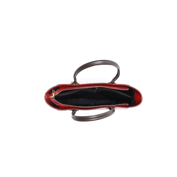 Kožená kabelka Cuco, červená