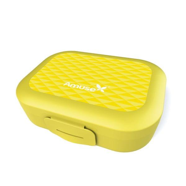 Desiatový box Amuse, žltý