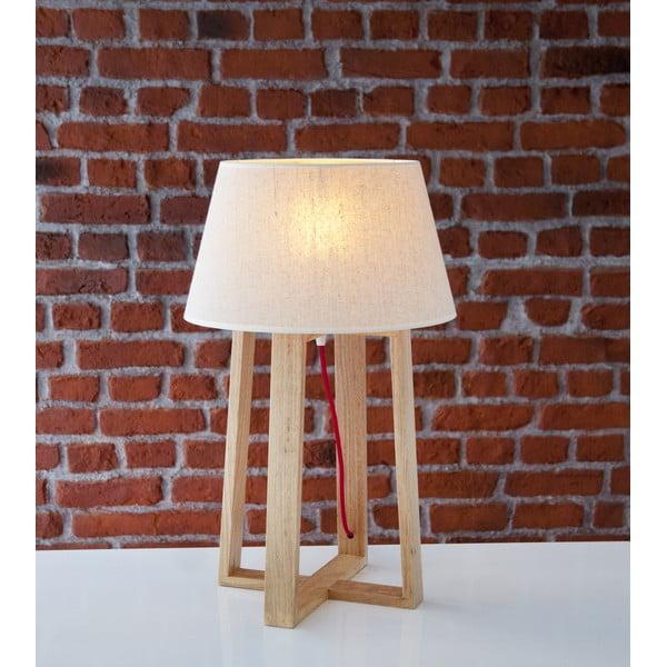 Stolová lampa s drevenou základňou Simon