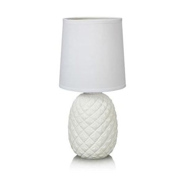 Biela stolová lampa Markslöjd Pineapple