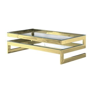Konferenčný stolík v zlatej farbe Artelore Kasia