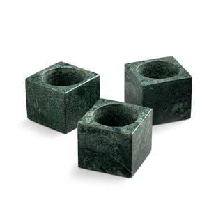 Sada 3 zelených mramorových svietnikov NORDSTJERNE